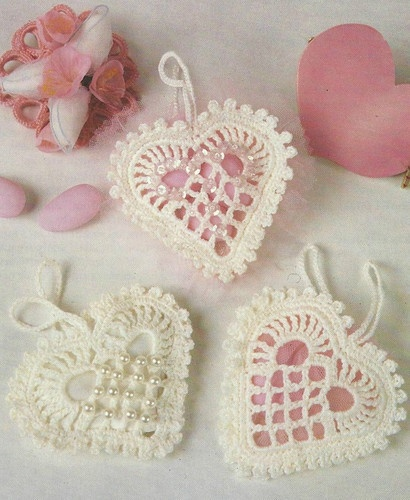 Heart Sachets Crochet  Pattern