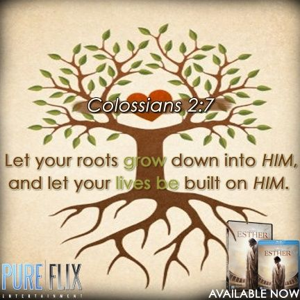 bible verses about roots of a tree for children | Colossians2:7 #Roots #Grow…