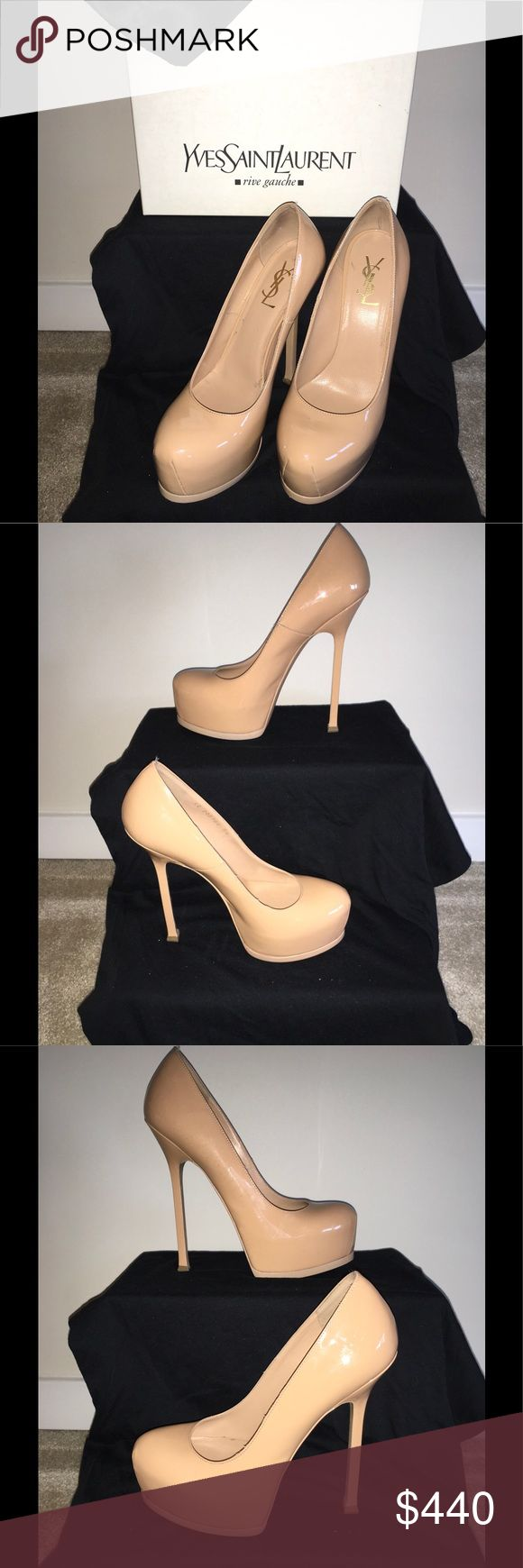 YSL(SAINT LAURENT) HEELS Women's EU38(US 7 1/2-8) WORN ONCE..... Please don't be fooled by the fakes on POSHMARK ....All of our products are GUARANTEED 100% AUTHENTIC, so buy with CONFIDENCE....... CHECK OUT OUR OTHER ITEMS FOR SALE... Saint Laurent Shoes Heels