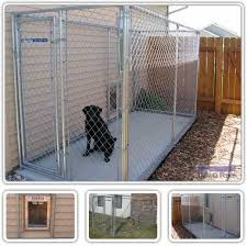 kennel with dog door to house