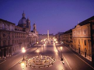 Piazza Navona ... only a 5 min walk from the hotel i live in :)