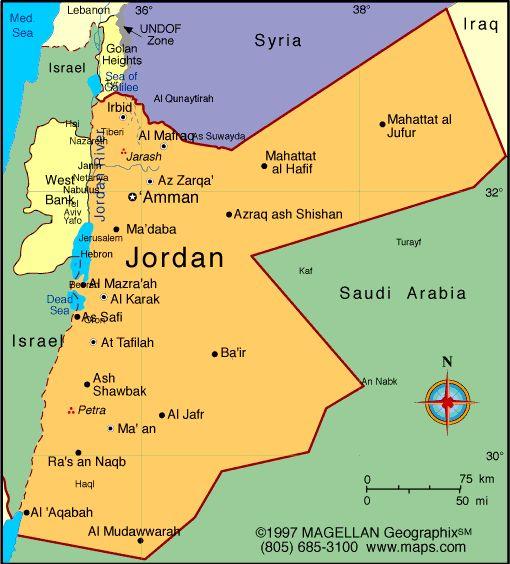Jordan Atlas: Maps and Online Resources   Infoplease.com