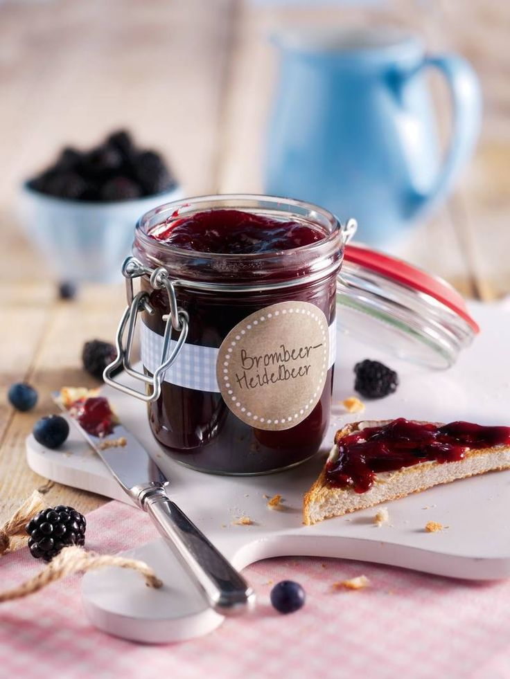 Samtige Brombeer- und Heidelbeermarmelade   – Marmelade