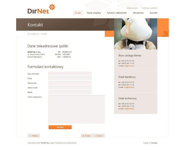 DirNet :Duszczyk | Web Design showcase