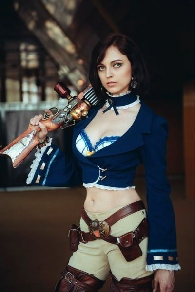 Steampunk Costume - royal blue - a lot of Steampunk costumes may focus on black, natural tones, and metallics, but that doesn't mean you can't go for color!