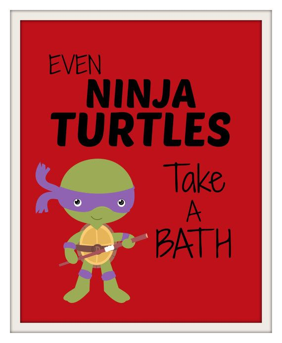 Ninja Turtles Bathroom Prints Kids Bathroom Prints Kids