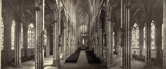 Kölner Dom, interior panorama, 1865-1895: Photos, Panoramic View, Eurovision Boards, Interiors Panorama, Holy Architecture, Eurovi Boards, Germany, Cologne Cathedrals, Architecture Reference