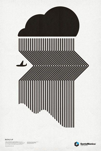 SantaMonica LW #illustration #blackandwhite #graphic