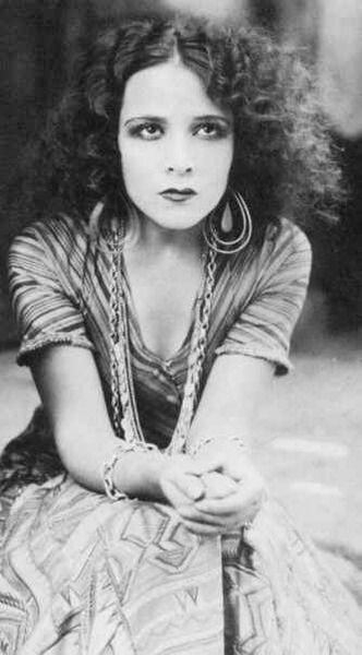 wild hair and big earrings. Dolores Del Rio - 1920s Dolores Del Rio - 1920's