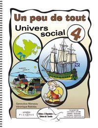 Ce document a été conçu pour amener l'élève à s'approprier les éléments essentiels du programme en univers social. Les trois compétences y sont développées. On trouve dans ce volume une diversité de renseignements sur les territoires et la vie quotidienne des sociétés à l'étude.