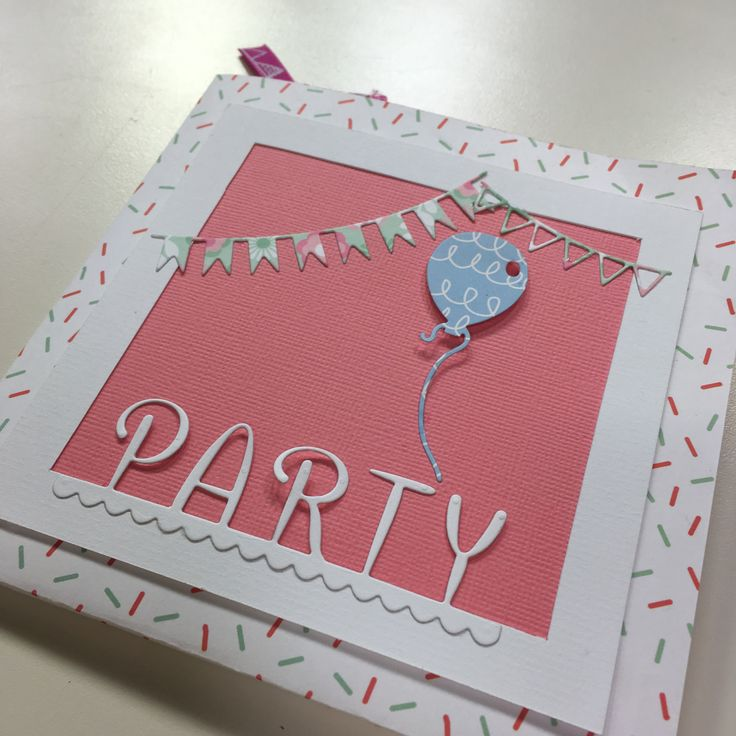 Party Invitation or Birthday card - envelope card with pockets inside. This was a live demo on Create & Craft TV in October 2016 - demo starts 18 minutes in to show video