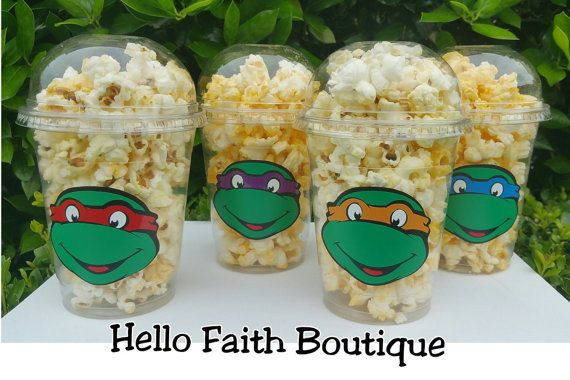 You will receive (12) Super Cute Ninja Turtle Pop Corn Cups / Snack Cups. >These cups are Disposable. >Your guest will absolutely LOVE these high