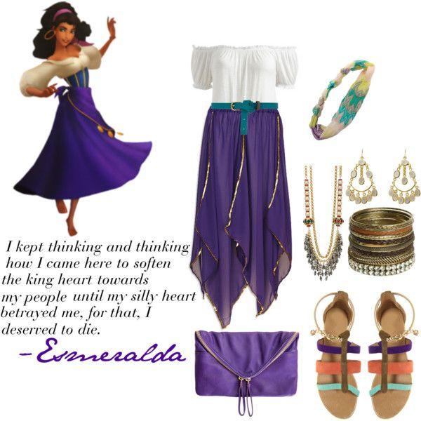Esmeralda by hepburnities on Polyvore featuring Arden B., River Island, Linea Pelle, Wet Seal, Mawi, Isharya, Missoni, Dorothy Perkins and Disney