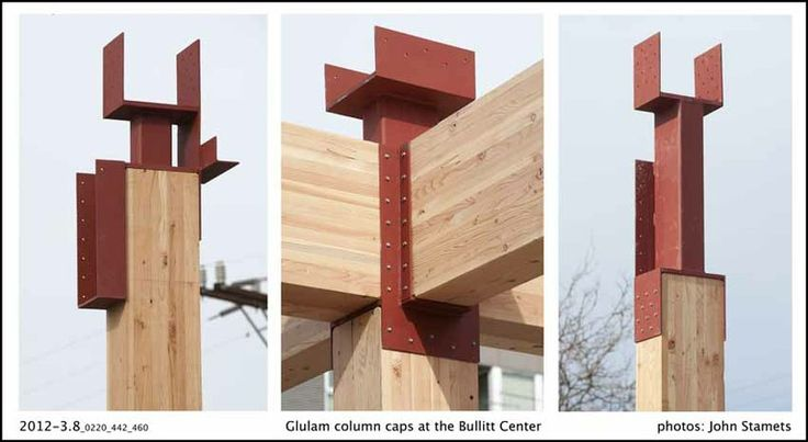 Fsc certified glulam column caps wood pinterest