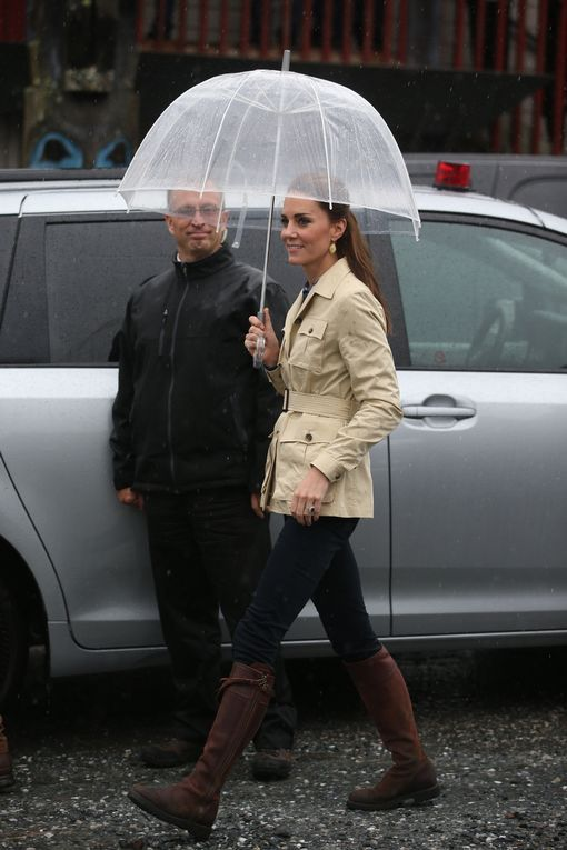 The Duke and Duchess of Cambridge , on a tour of Canada today arrived in Bella Bella