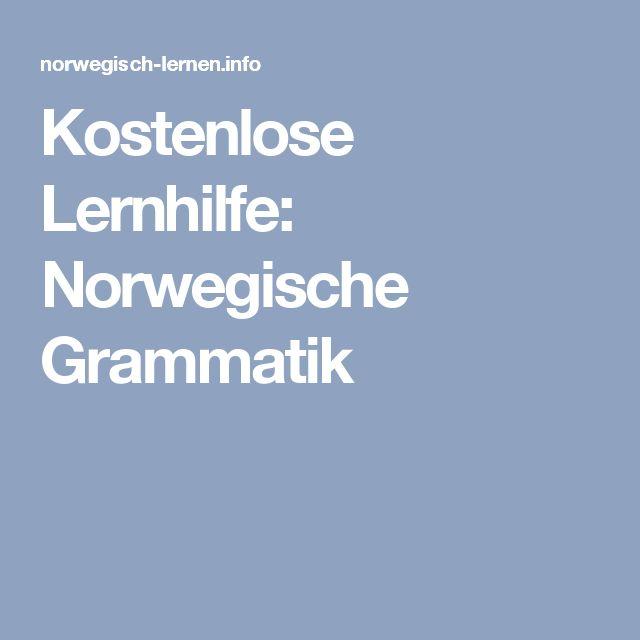 Kostenlose Lernhilfe: Norwegische Grammatik