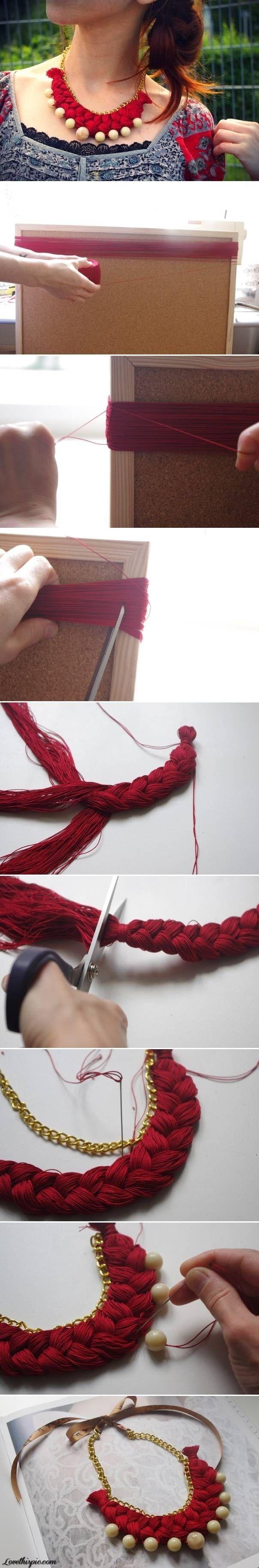 DIY Braided Necklace diy crafts craft ideas easy crafts diy ideas crafty easy diy diy bracelet craft necklace diy necklace jewelry diy