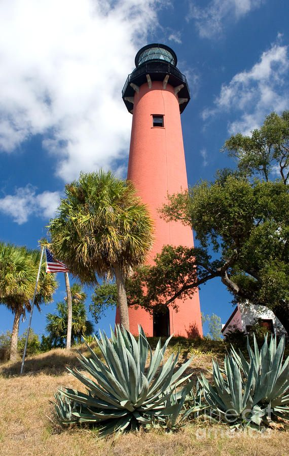 Jupiter Inlet Light is located in Jupiter, Florida, on the north side of the Jupiter Inlet. The site for the lighthouse was chosen in 1853. It is located between Cape Canaveral Light and Hillsboro Inlet Light.
