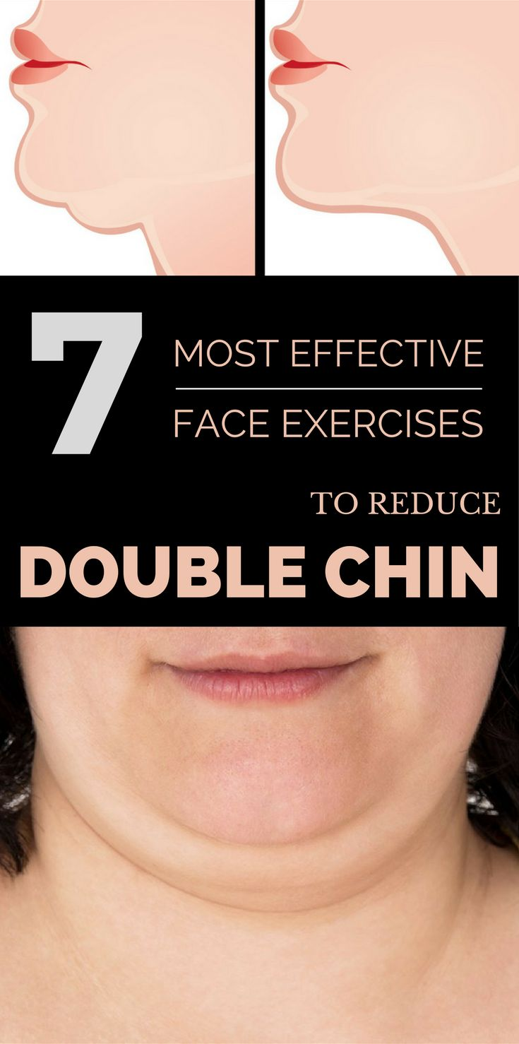 7 most effective face exercises to reduce double chin.
