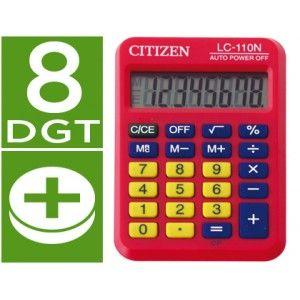 Calculadora de bolsillo Citizen LC-110N color roja