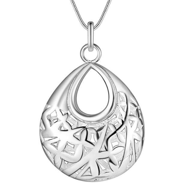 Оптовая посеребренные шарм jewelrys Ожерелье, бесплатная доставка 925 штампованные ювелирные изделия подвесные корзины AN693