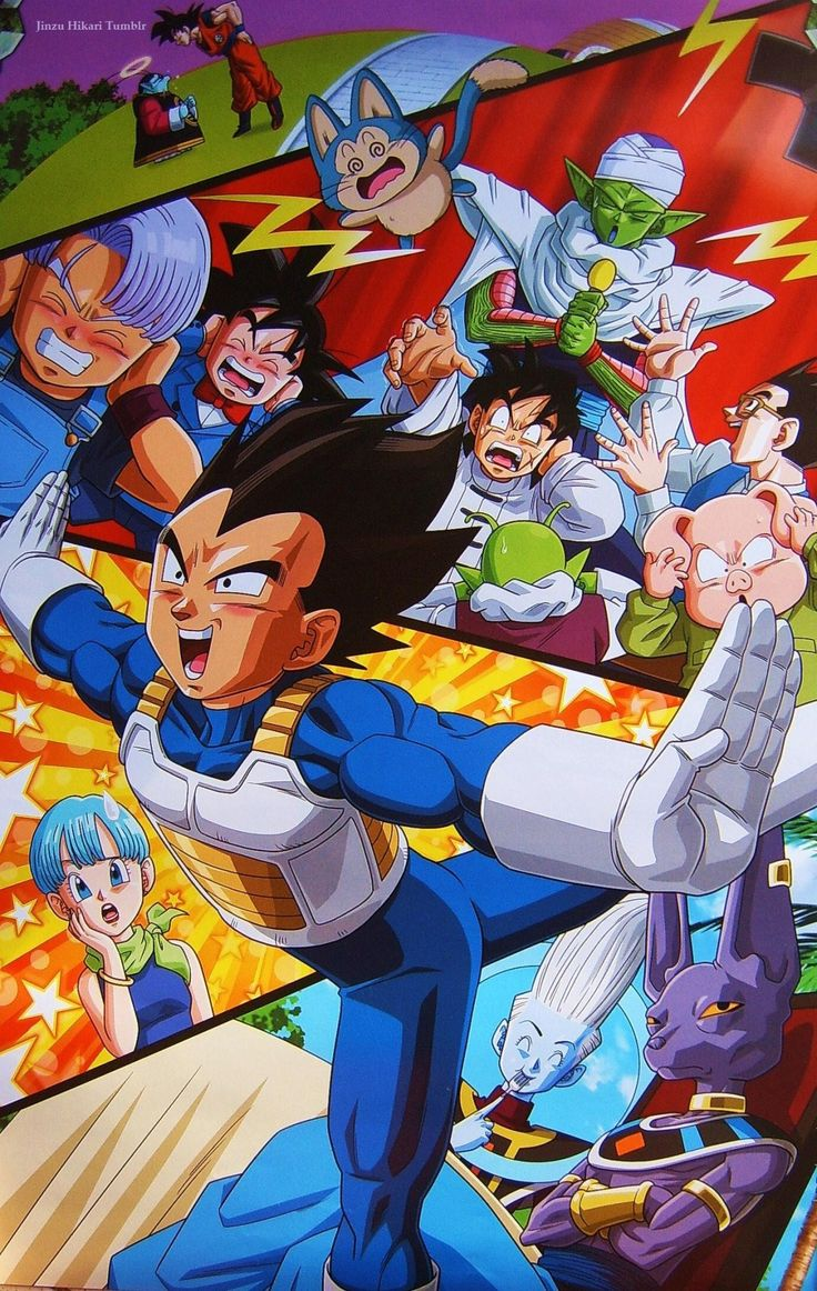 From Dragon Ball super poster (DRAGON BALL SUPER 2016 CALENDAR) Published by Toei Animation / Fuji TV & Studio Bird source (photography from my personal collection)
