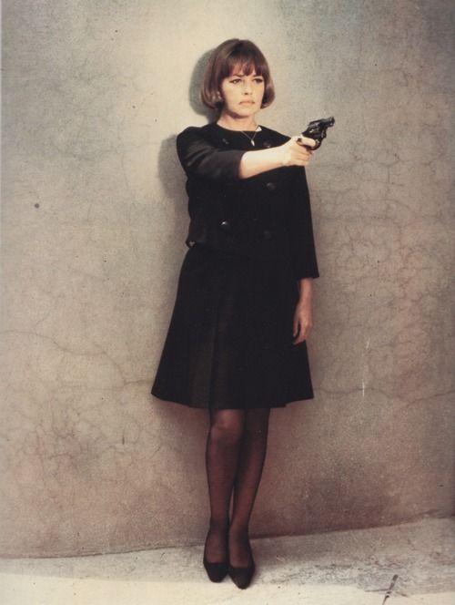 Jeanne Moreau in La mariée était en noir.