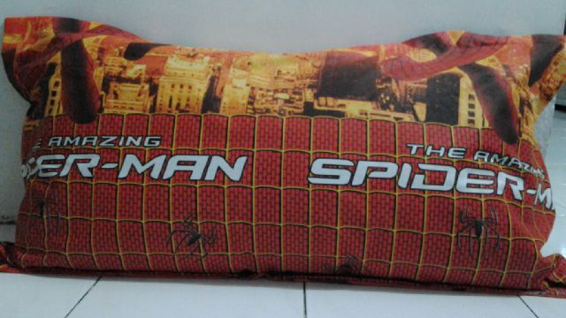 Sarung Bantal Cinta Spiderman Katun Jepang Murah SUrabaya Pesan Telepon SMS WA Syaiful Anam 085785585105 PIN BB 7E8CEA82