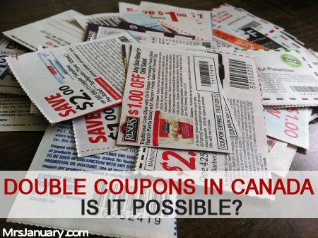 Double Coupons in Canada - Is it Possible? via MrsJanuary.com #coupons #extremecouponing