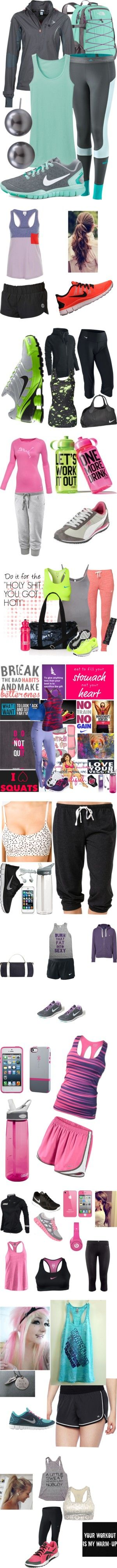"""I WoRk OuT!"" by dainty-ff on Polyvore  The only problem is that I only want to wear the clothes not work out in them."