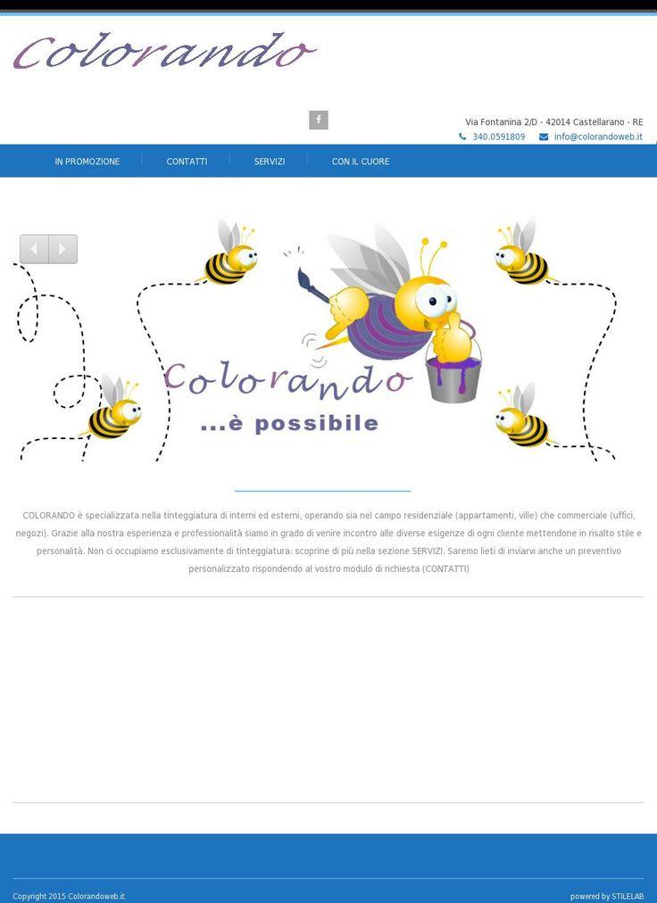 www.colorandoweb.it. Sito della ditta di imbancatura per interni ed esterni.