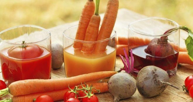 Hochwertige Säfte - Gemüse trinken