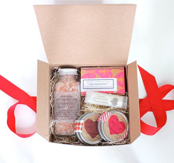Gift Set For Her /  Chocolate lip balm  gift sets for her with massage balm home and living bath and beauty gift sets on Etsy, $25.00