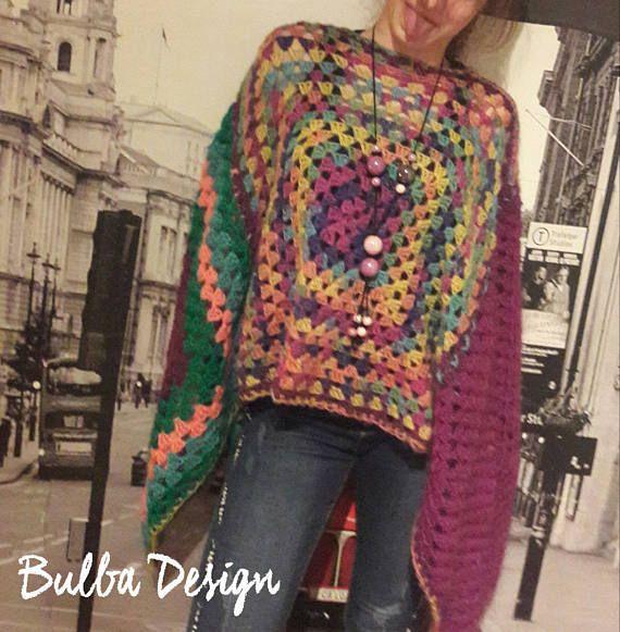 Hey, I found this really awesome Etsy listing at https://www.etsy.com/listing/564503094/hand-crochet-poncho-boho-clothing