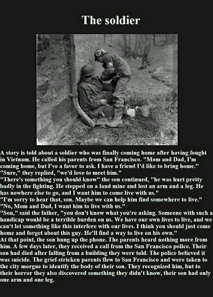 The story of the handicaped soldier