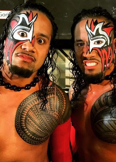 The Usos @ 2015 Royal Rumble | Wrestling Face Paint ...