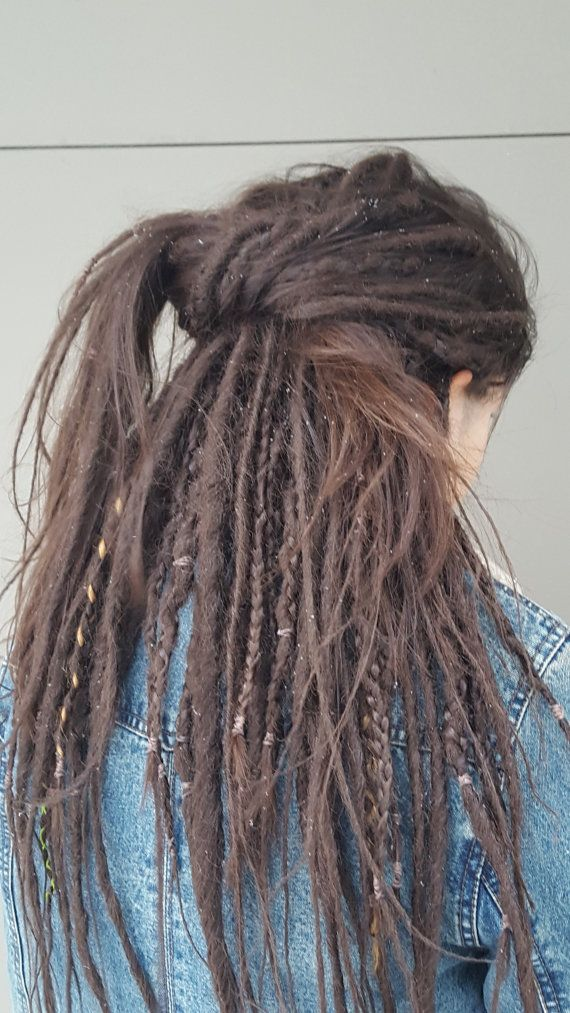 • This listing is for 35 Double-Ended (DE) Synthetic Dreads (70 total dreads). This is normally enough for a full head of hair  • Made from Kanekalon synthetic fiber  • These are custom made; turnaround time is 1 - 3 weeks • Dreads start out thick and taper off to wisps toward the bottom – - size of the dread is approximately 1/4 - 1/2 inch in diameter (4-6 mm)  • The average length of each dread is 45-47 inches unfolded (about 23 inches installed /folded)  • Since dreads are h...