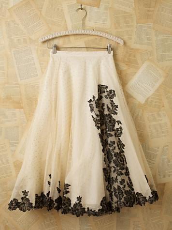 Ballet-inspired vintage net skirt