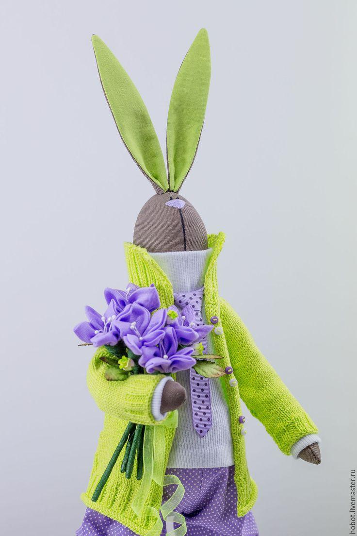 Tilda Doll Bunny | Купить Салатово-лиловый парень - салатовый, фиолетовый, лиловый, тильда, заяц, кроик, кукла, куклатильда