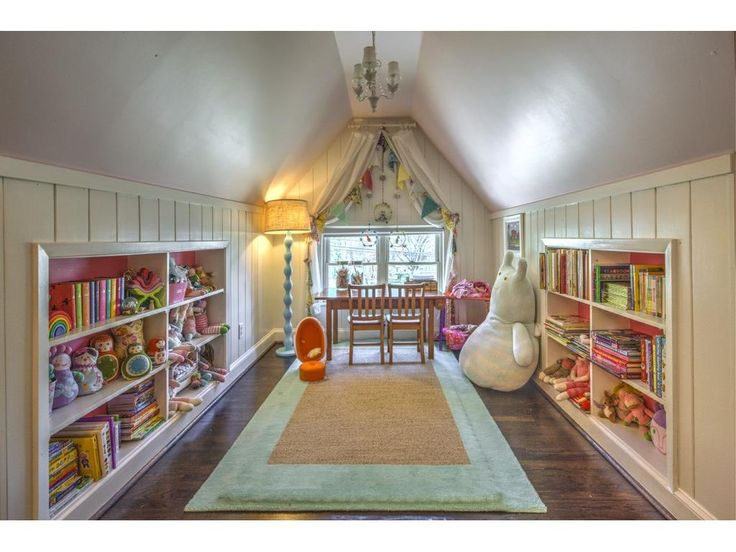 Cool attic playroom