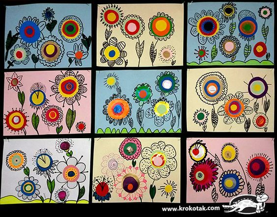 How to draw flowers - check out other crafts for children on this site.