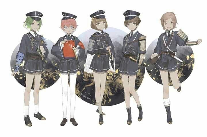 Mouri, Akita, Maeda, Hirano, and Houchou Toushirou