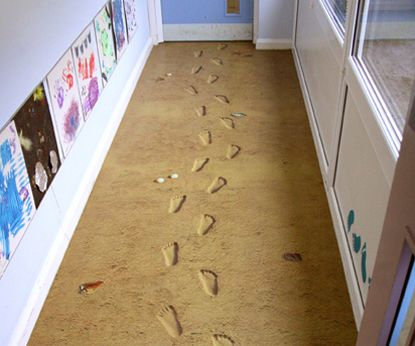 Cool Flooring Ideas sandy footprints. funky flooring http://www.creative-continuity.co
