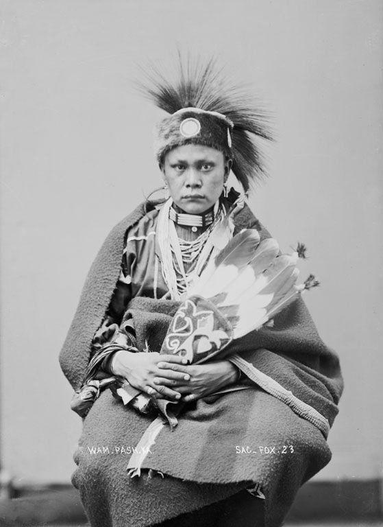 American Indians : Wam Pash Ka - Sauk 1896.