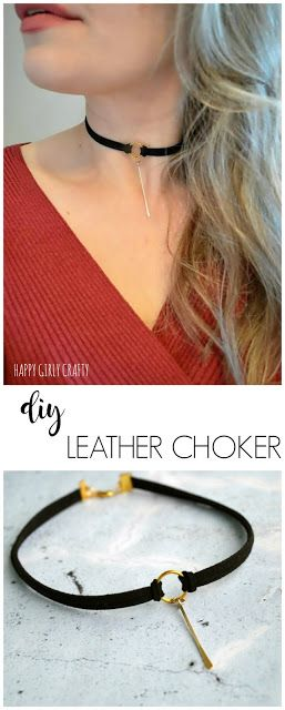 DIY Easy leather choker necklace!