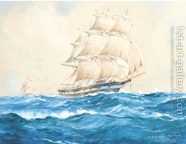 U.S. Clipper Rainbow by William Minshall Birchall