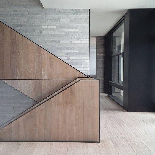 Loving the lines and materials #stairs #naturalmaterials via salvatori.it