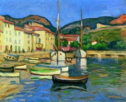 Charles CAMOIN L'entrée du port de St Tropez, circa 1950 Топ 10 достопримечательностей Сен-Тропе