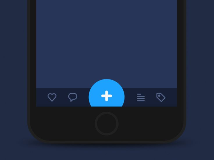 iOS Clean Design - Tap Bar