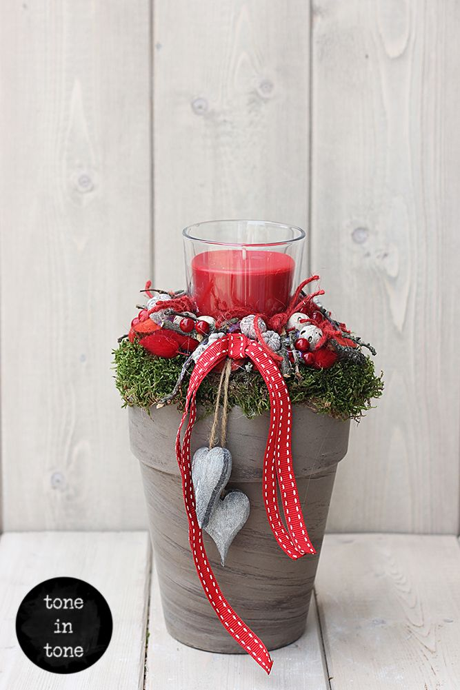 #christmas  #candles  #decoration  #ideas #candleholder #handmade #diy #gifts #style #red